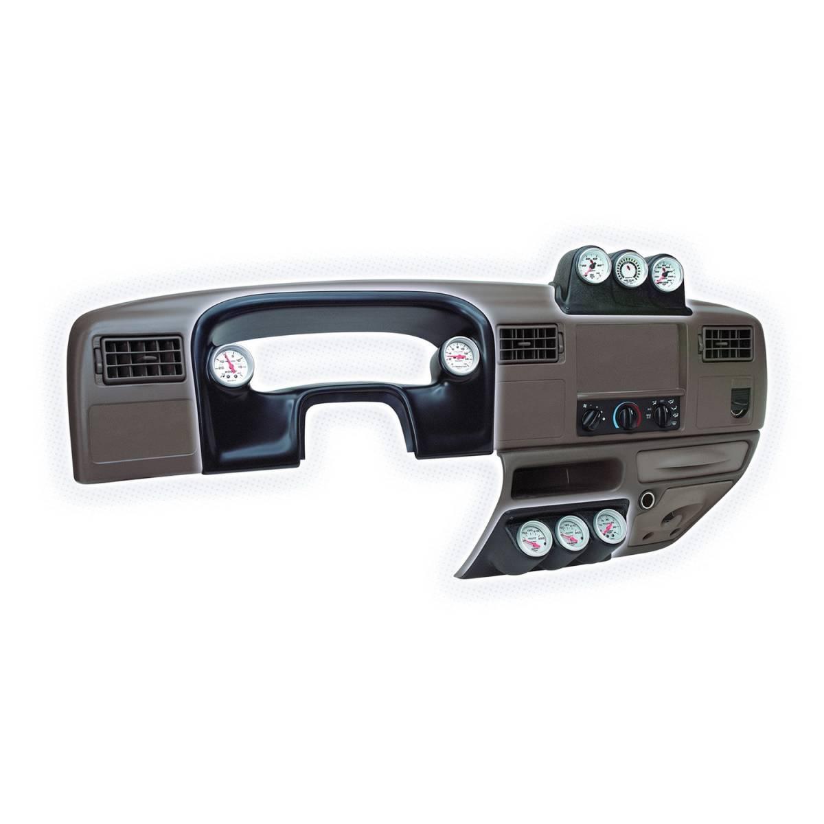 Autometer  15016 Gauge Mount  Dash Top  Triple  2 1  16in