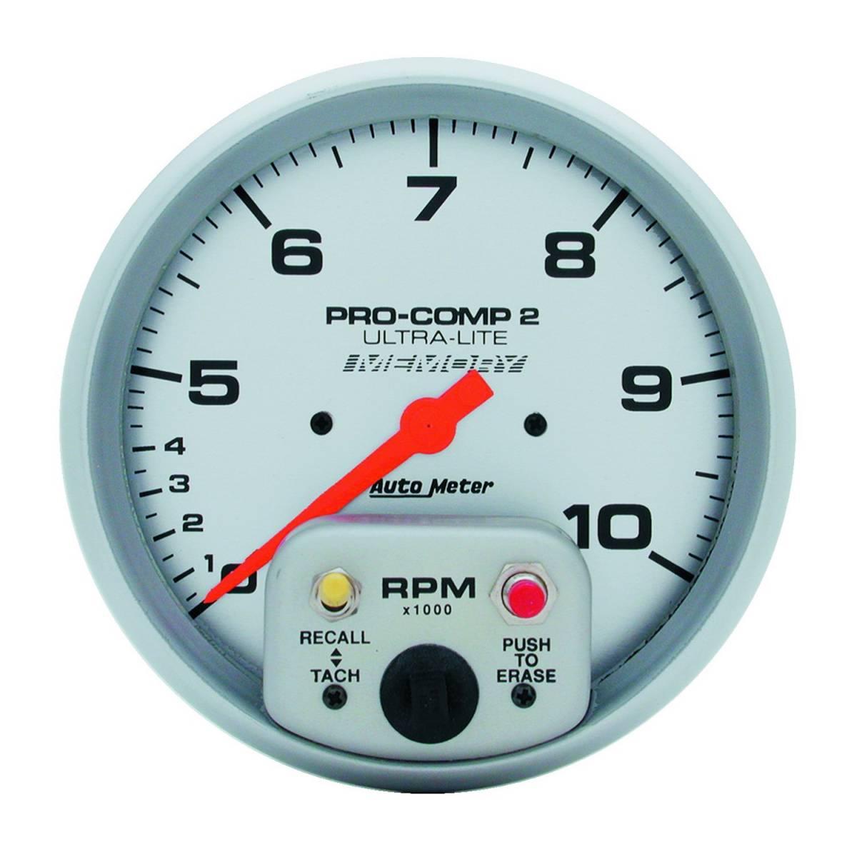 autometer 4499 gauge tach 5in 10k rpm in dash dual. Black Bedroom Furniture Sets. Home Design Ideas