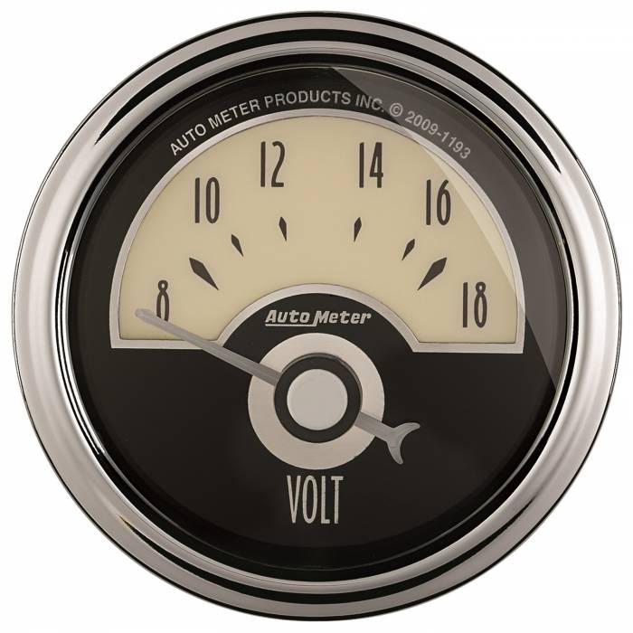 AutoMeter - AutoMeter Gauge; Voltmeter; 2 1/16in.; 18V; Elec; Cruiser AD 1191