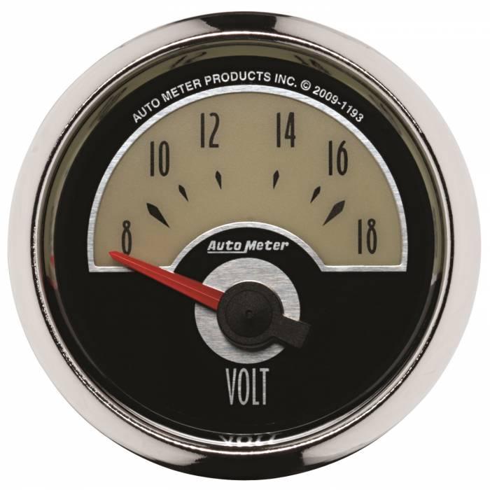 AutoMeter - AutoMeter Gauge; Voltmeter; 2 1/16in.; 18V; Elec; Cruiser 1193