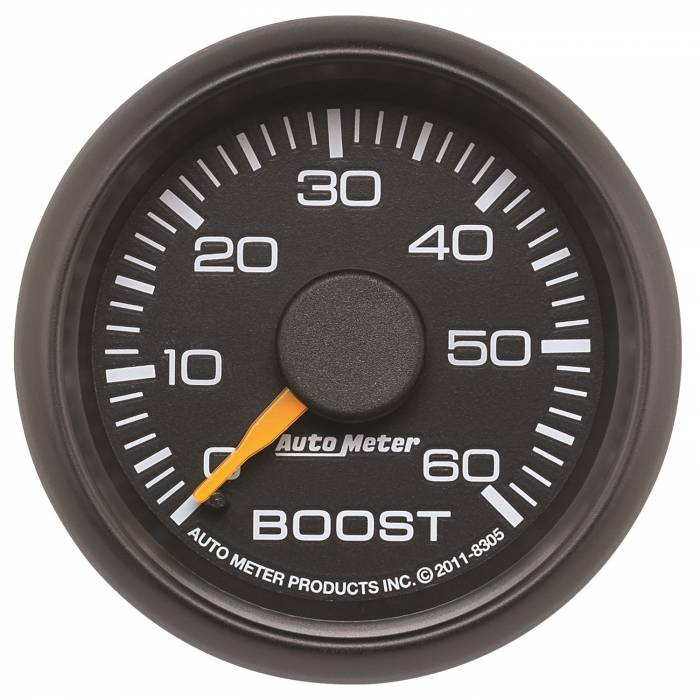 AutoMeter - AutoMeter Gauge; Boost; 2 1/16in.; 60psi; Mechanical; GM Factory Match 8305