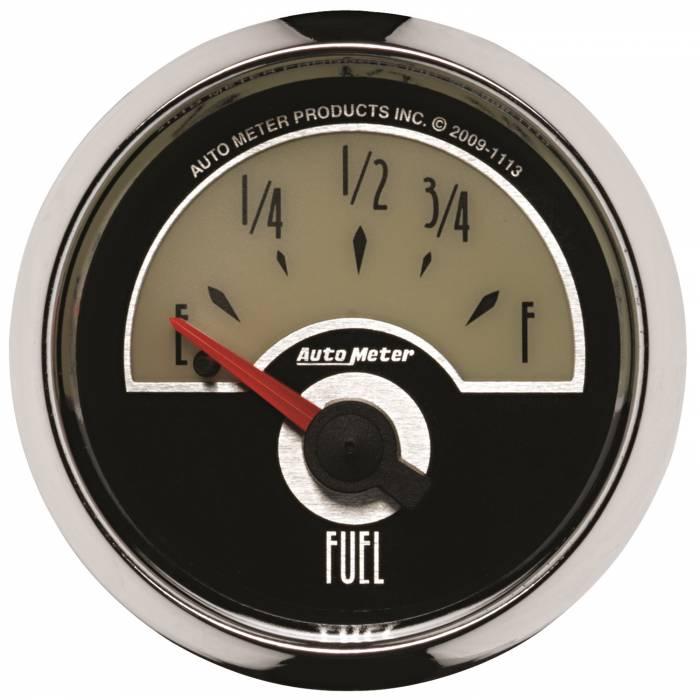 AutoMeter - AutoMeter Gauge; Fuel Level; 2 1/16in.; 0E to 90F; Elec; Cruiser 1113