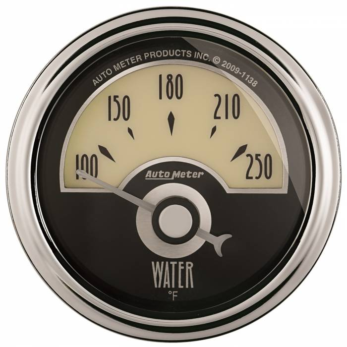 AutoMeter - AutoMeter Gauge; Water Temp; 2 1/16in.; 250deg. F; Elec; Cruiser AD 1136