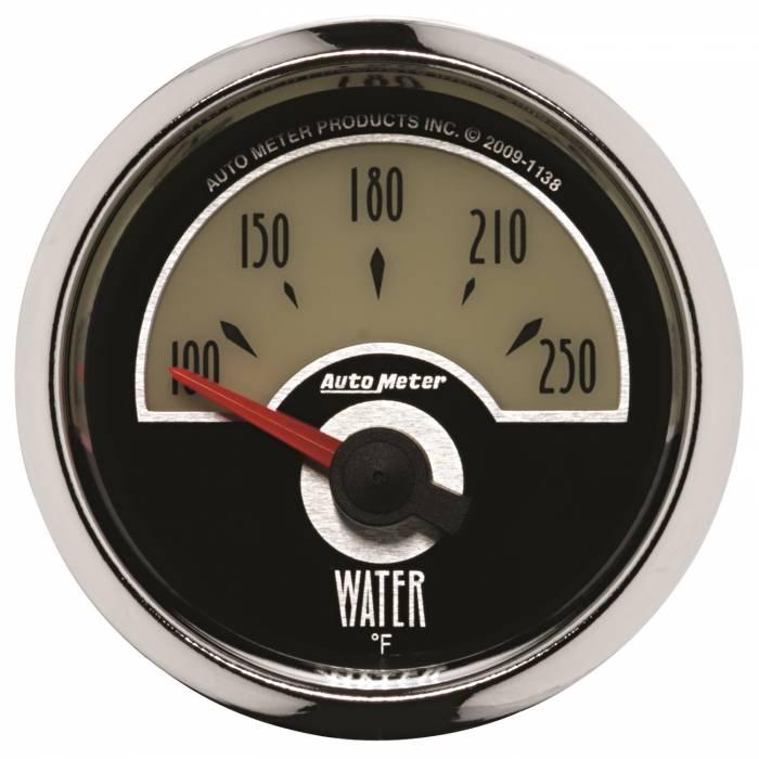 AutoMeter - AutoMeter Gauge; Water Temp; 2 1/16in.; 250deg. F; Elec; Cruiser 1138