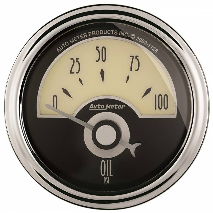 AutoMeter - AutoMeter Gauge; Oil Press; 2 1/16in.; 100psi; Elec; Cruiser AD 1126