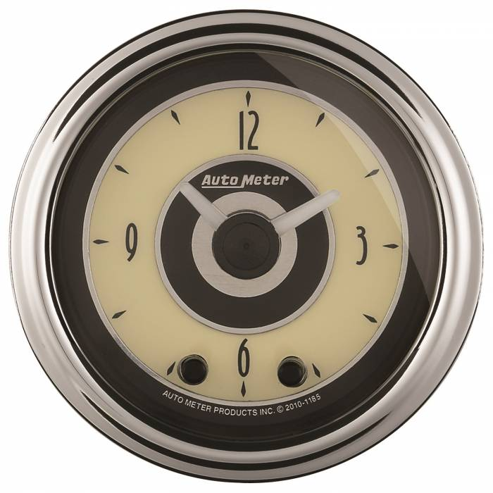 AutoMeter - AutoMeter Gauge; Clock; 2 1/16in.; 12Hr; Analog; Cruiser AD 1184