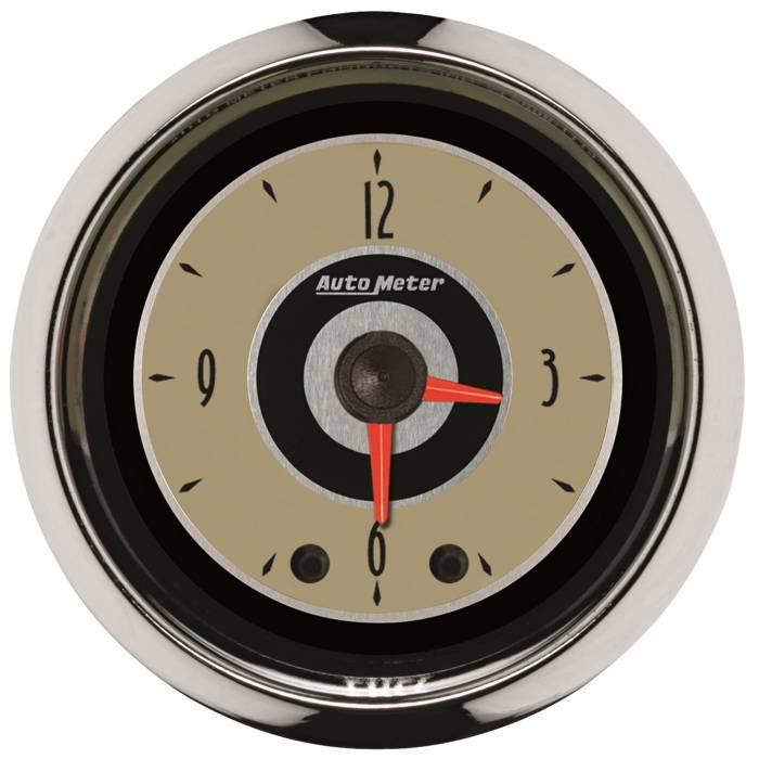 AutoMeter - AutoMeter Gauge; Clock; 2 1/16in.; 12Hr; Analog; Cruiser 1185