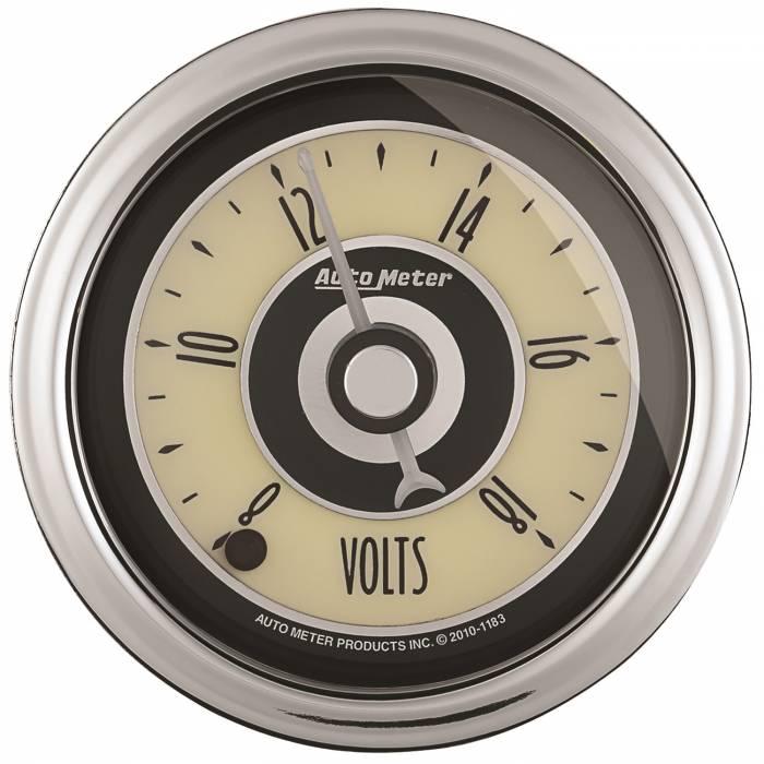 AutoMeter - AutoMeter Gauge; Voltmeter; 2 1/16in.; 18V; Digital Stepper Motor; Cruiser AD 1182