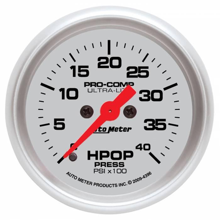 AutoMeter - AutoMeter Gauge; High Press Oil Pump; 2 1/16in.; 4kpsi; Digital Stepper Motor; Ultra-Lite 4396