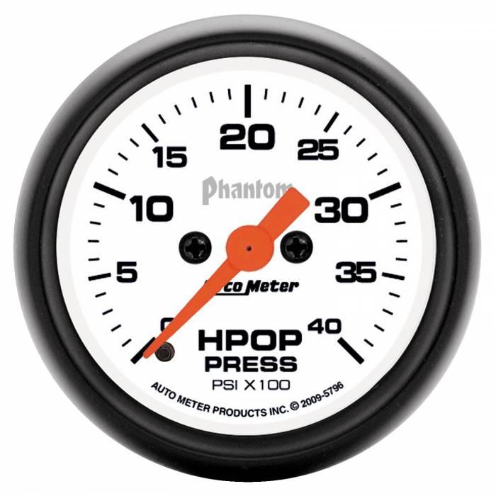 AutoMeter - AutoMeter Gauge; High Press Oil Pump; 2 1/16in.; 4kpsi; Digital Stepper Motor; Phantom 5796