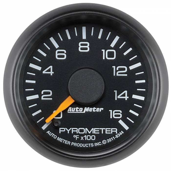 AutoMeter - AutoMeter Gauge; Pyrometer (EGT); 2 1/16in.; 1600deg. F; Stepper Motor; GM Factory Match 8344