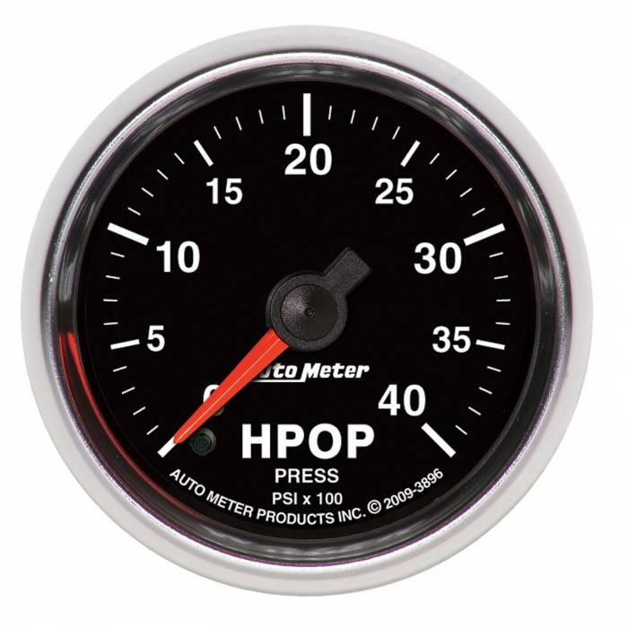 AutoMeter - AutoMeter Gauge; High Press. Oil Pump Press.; 2 1/16in.; 4kpsi; Digital Stepper Motor; GS 3896