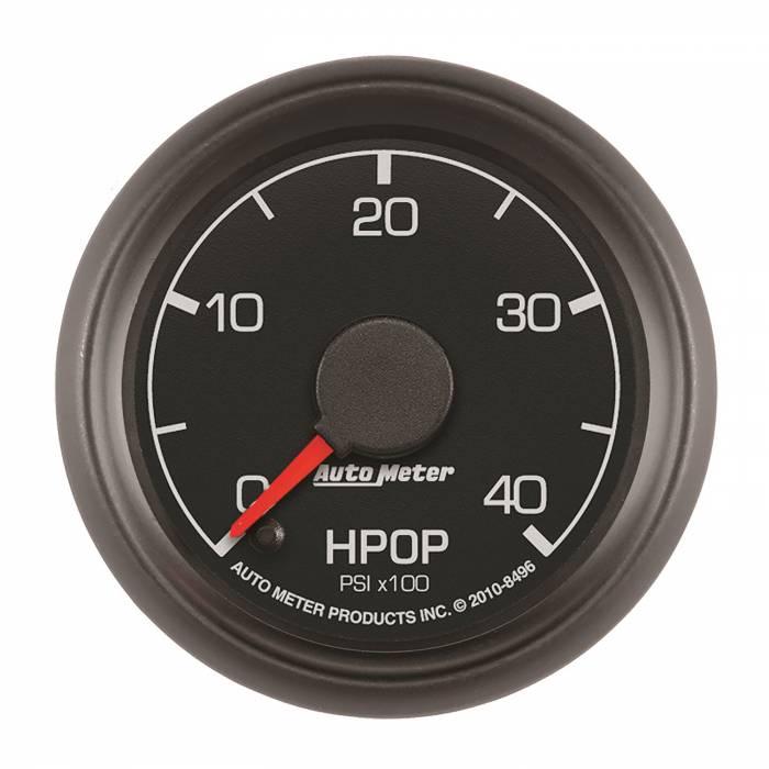 AutoMeter - AutoMeter Gauge; High Press Oil Pump; 2 1/16in.; 4kpsi; Stepper Motor; Ford Factory Match 8496