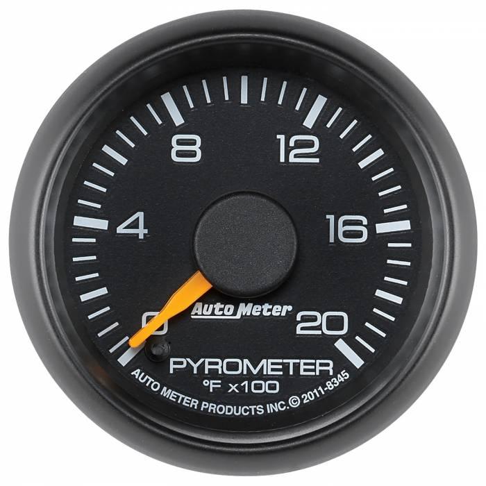 AutoMeter - AutoMeter Gauge; Pyrometer (EGT); 2 1/16in.; 2000deg. F; Stepper Motor; GM Factory Match 8345