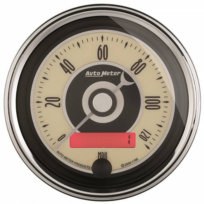 AutoMeter - AutoMeter Gauge; Speedometer; 3 3/8in.; 120mph; Elec. Programmable; Cruiser AD 1187
