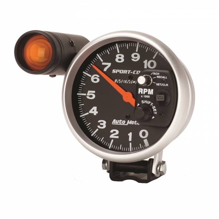 Autometer  3906 Gauge  Tach  5in   10k Rpm  Pedestal W  Ext