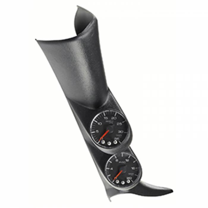 AutoMeter - AutoMeter Diesel Gauge Kit; A-Pillar; GM 00-07; Boost/EGT; 60psi/2000deg. F; Blk; Spek-Pro P72020