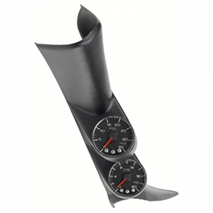AutoMeter - AutoMeter Diesel Gauge Kit; A-Pillar w/spkr; GM 00-07; Boost/EGT; 60psi/2kdeg. F; Blk; Spe P72021