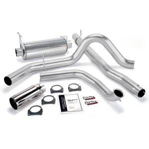 1999-2003 Ford 7.3L Powerstroke - Exhaust - Banks Power - Banks Power Monster Exhaust System, Single Exit, Chrome Round Tip 48657