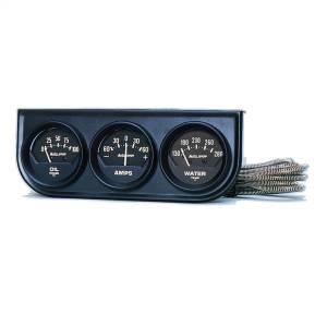 Accessories - Gauges & Pods - AutoMeter - AutoMeter Gauge Console; OILP/WTMP/AMP; 2in.; 100psi/280deg. F/60A; Blk Dial; Blk Bzl; AG 2347