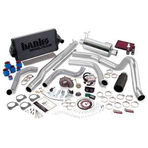 1999-2003 Ford 7.3L Powerstroke - Performance Bundles - Banks Power - Banks Power PowerPack Bundle, Complete Power System with Single Exit Exhaust, Black Tip 47573-B