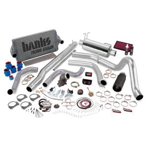 1999-2003 Ford 7.3L Powerstroke - Performance Bundles - Banks Power - Banks Power Big Hoss Bundle, Complete Power System with Single Exhaust, Black Tip 48434-B