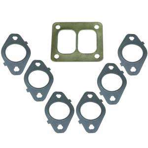 Engine & Performance - Exhaust Manifolds - BD Diesel - BD Diesel Gasket Set, Exhaust Manifold T4 Mount -  Dodge 1998.5-2017 5.9L/6.7L 1045986-T4