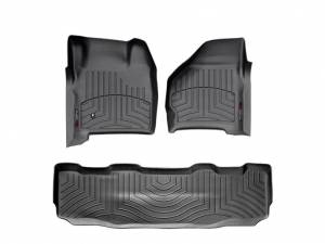 WEATHERTECH Black Front and Rear Floorliners - Image 1