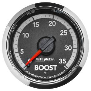 AutoMeter - AutoMeter Gauge; Boost; 2 1/16in.; 35psi; Mechanical; Ram Gen 4 Factory Match 8507