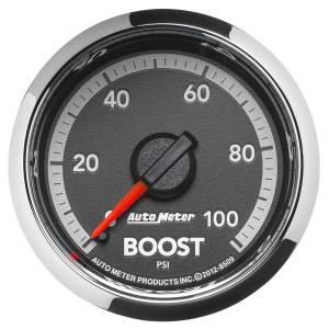 Interior Accessories - Gauges & Pods - AutoMeter - AutoMeter Gauge; Boost; 2 1/16in.; 100psi; Mechanical; Ram Gen 4 Factory Match 8509