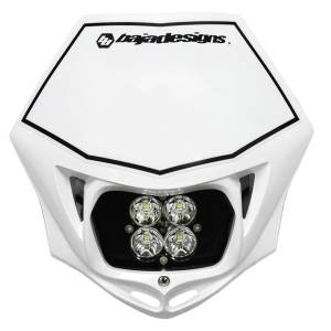 Baja Designs - Motorcycle Race Light LED DC White Squadron Sport Baja Designs