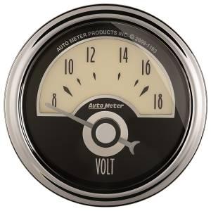 AutoMeter - AutoMeter Gauge; Voltmeter; 2 1/16in.; 18V; Elec; Cruiser AD 1191 - Image 1