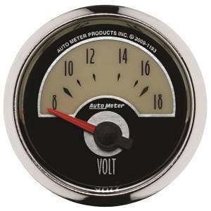 AutoMeter - AutoMeter Gauge; Voltmeter; 2 1/16in.; 18V; Elec; Cruiser 1193 - Image 1