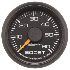 AutoMeter Gauge; Boost; 2 1/16in.; 60psi; Mechanical; GM Factory Match 8305