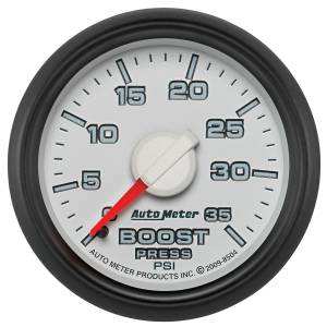 2007.5-2017 Dodge 6.7L 24V Cummins - Gauges & Pods - AutoMeter - AutoMeter Gauge; Boost; 2 1/16in.; 35psi; Mechanical; Ram Gen 3 Factory Match 8504