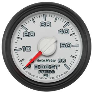 AutoMeter - AutoMeter Gauge; Boost; 2 1/16in.; 60psi; Mechanical; Ram Gen 3 Factory Match 8505