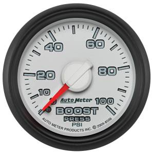 AutoMeter - AutoMeter Gauge; Boost; 2 1/16in.; 100psi; Mechanical; Ram Gen 3 Factory Match 8506