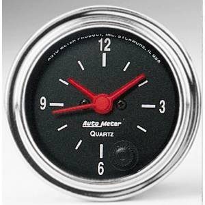 Accessories - AutoMeter - AutoMeter Gauge; Clock; 2 1/16in.; 12Hr; Analog; Traditional Chrome 2585
