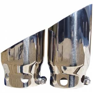 """2008-2010 Ford 6.4L Powerstroke - Exhaust - MBRP Exhaust - MBRP Exhaust 4"""" inlet 5"""" Tip Cover Set - 6 3/4"""" and 9 3/4"""" in length, T304 T5111"""