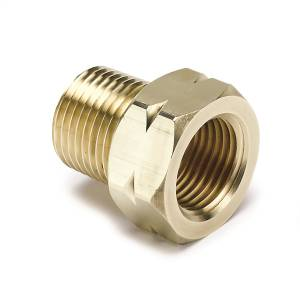 Engine & Performance - Engine Parts - AutoMeter - AutoMeter Fitting; Adapter; 3/8in. NPT Male; Brass; for Auto Gage Mech. Temp. 2370