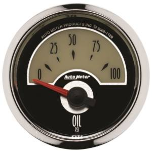 AutoMeter - AutoMeter Gauge; Oil Press; 2 1/16in.; 100psi; Elec; Cruiser 1128 - Image 1