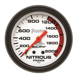 Nitrous Kits & Parts - Nitrous Kit Parts - AutoMeter - AutoMeter Gauge; Nitrous Pressure; 2 5/8in.; 2000psi; Mechanical; Phantom 5828
