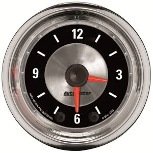 Accessories - AutoMeter - AutoMeter Gauge; Clock; 2 1/16in.; 12Hr; Analog; American Muscle 1284