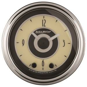 AutoMeter - AutoMeter Gauge; Clock; 2 1/16in.; 12Hr; Analog; Cruiser AD 1184 - Image 1