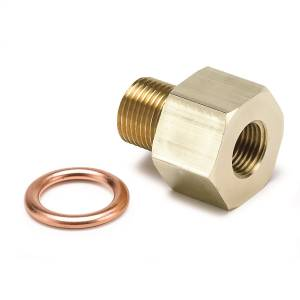 Accessories - Gauges & Pods - AutoMeter - AutoMeter Fitting; Adapter; Metric; M12x1 Male to 1/8in. NPTF Female; Brass 2266