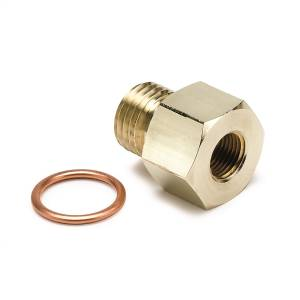Interior Accessories - Gauges & Pods - AutoMeter - AutoMeter Fitting; Adapter; Metric; M14x1.5 Male to 1/8in. NPTF Female; Brass 2267