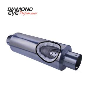 Diamond Eye Performance PERFORMANCE DIESEL EXHAUST PART-4in. 409 STAINLESS STEEL PERFORMANCE PERFORATED 470050