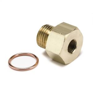 Interior Accessories - Gauges & Pods - AutoMeter - AutoMeter Fitting; Adapter; Metric; M16x1.5 Male to 1/8in. NPTF Female; Brass 2268