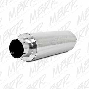 """Engine & Performance - Exhaust Parts - MBRP Exhaust - MBRP Exhaust Quiet Tone Muffler, 5"""" In/Out, 8? Dia. Body, 31? Overall, AL M2220A"""