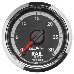 Interior Accessories - Gauges & Pods - AutoMeter - AutoMeter Gauge; Rail Press; 2 1/16in.; 30kpsi; Digital Stepper Motor; Ram Gen 4 Fact. Mat 8594